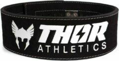Witte Thor Athletics - Powerlift Riem Zwart - Gewichthefriem - Lifting Belt - Krachttraining Accesscoires - Powerlifting - Bodybuilding - Deadlift - Squat - Maat (XL)