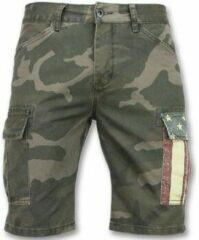 Enos Camouflage korte broek mannen - Goedkope bermuda broeken - 9017 - Grijs Heren Short W28