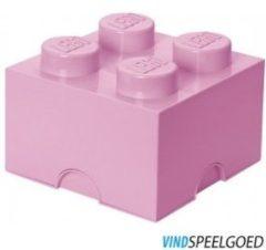 Roze Lego Opbergbox Brick 4 - 25 cm x 25 cm x 18 cm - Pink