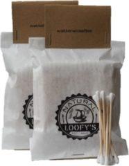 Loofy's - 200 stuks - Wattenstaafjes Bamboe - Hout - 100% plastic vrij - Ook de verpakking! Loofys - Sinterklaas Kerst Cadeau
