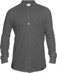 Antraciet-grijze The Driftwood Tales Overhemd - Biologisch katoen - Small - Antraciet - verborgen button down