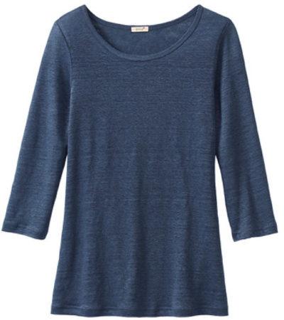 Afbeelding van Enna Shirt met ronde hals, indigoblauw 44/46