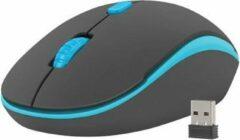 Natec Martin Draadloze Muis - 1600 DPI - Zwart/Blauw