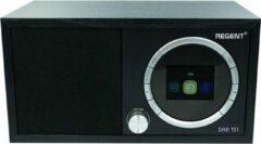 Zwarte Ferguson regent DAB 151- Digitale FM-radio- Bluetooth met bass reflex-systeem