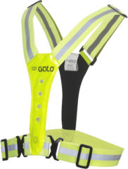 Gele Gato Sports Led Safer Sport vest - hardloop verlichting - Neon Yellow