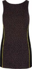 Zwarte Boatneck-top met beha - luipaard XS Loungewear shirt YOGISTAR