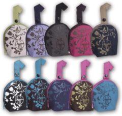 Lässig Lassig speentasje paars/roze met zwarte print