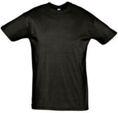 Zwarte T-shirt Korte Mouw Sols REGENT COLORS MEN