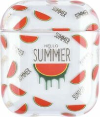 "Greenz products AirPods Case ""Hello Summer Watermeloen"" - Airpods hoesje - Airpods case - Beschermhoes voor AirPods 1/2"