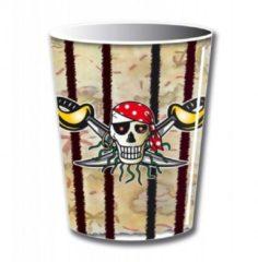 Folat 8x drinkbekers thema piraat 250 ml - thema feest drinkbekers