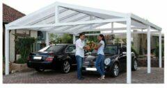 Van Kooten Tuin en Buitenleven Aluminium Zadeldak Carport 600x600 cm Type B