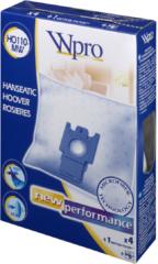 Hoover, Wpro Hoover Staubsaugerbeutel 4 Stück + Motorfilter für Staubsauger 481281718605