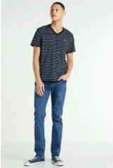 Donkerblauwe Levi's T-shirt met V-hals en streepprint