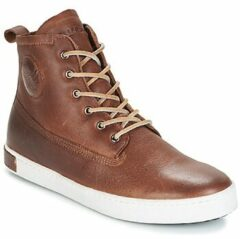 Bruine Hoge Sneakers Blackstone INCH WORKER ON FOXING FUR