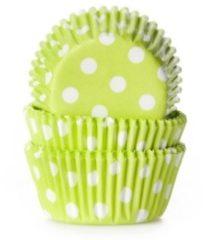 Groene House of Marie MINI Cupcake Vormpjes Stip Lime Groen - pk/60