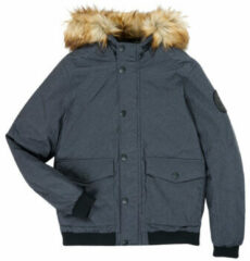 Antraciet-grijze JACK & JONES JUNIOR bomberjack winter Sky antraciet