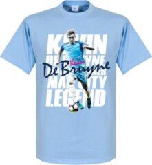 Lichtblauwe Merkloos / Sans marque Kevin De Bruyne Legend T-Shirt - S