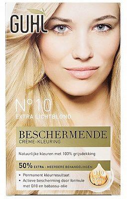 Afbeelding van Guhl Protecture Haarverf Beschermende Creme-Kleuring 10 Extra Licht blond