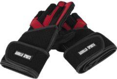 Rode Gorilla Sports Leren Fitnesshandschoenen Met Polsbandage De Luxe XL