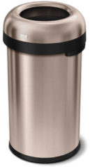 Simplehuman Afvalemmer Bullet Open Top Can brede opening 60 liter (rose gold)