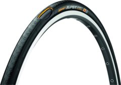 Zwarte Continental buitenband 28 700x28c 28-622 supersport plus breaker zwart