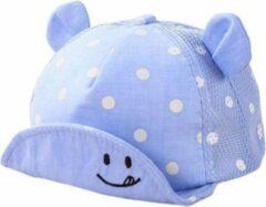 JillyBee - Pet - Stippen - Oortjes - Smile - Blauw - 1Maat