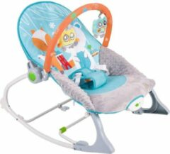 Blauwe Konig Kids Wipstoel met speelboog - Schommelstoel baby - Wipstoeltje - Schommelstoeltje