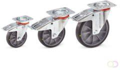 Fetra Zwenkwiel met rem 160 x 40 mm, TPE-wielen elektrisch geleidend
