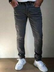 Grijze Alexander Maskovick Maskovick Heren Jeans Milano stretch SlimFit - Kleur: Grey - Maat: 30/32
