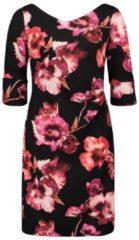 Rosa Blumenkleid mit 3/4 Arm Vera Mont Red Pink Shades - Rot