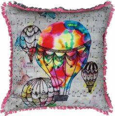 ECO COLLECTION Sierkussen Luchtballon Kleur 45x45cm. Handgemaakt & Fairtrade