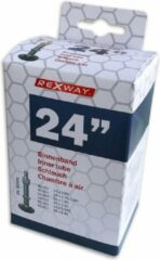 Zwarte Rexway - 3 x Fiets Binnenband - 24 inch - Dunlop Ventiel 40 mm