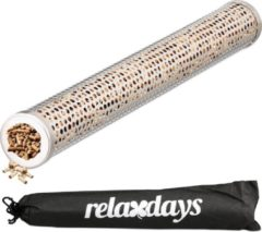 Relaxdays Bbq Smoker Box Tube - Rvs Rookstaaf / Smokerbox / Rookbox Voor De Barbecue - 3,8 X 30 Cm