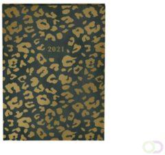 Leopard agenda 2021 - 15 x 11 cm - lannoo - groen