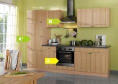HELD Möbel Küchenzeile Rom 270 cm Buche Nachbildung - inkl. E-Geräte
