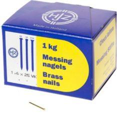 Hjz Messing nagels verloren kop 1.6 x 25mm 1kg