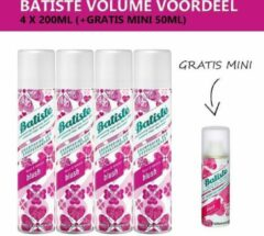 Batiste Droogshampoo Blush - Volumevoordeel - 4 x 200ml - Gratis Mini 50ml
