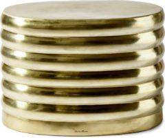 Riviera Maison Rivièra Maison Bijzettafel 'Times Square' 60cm, kleur Gold