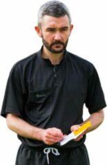 Precision Scheidsrechtersshirt Kort Heren Polyester Zwart Maat Xxl