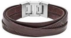 Zilveren Fossil Vintage Casual JF02999040 Heren Armband - 190 mm