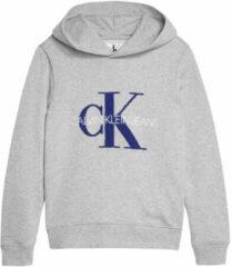Calvin Klein Jeans hoodie met logo grijs melange