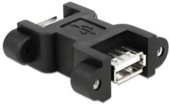 Delock Adapter USB 2.0 type A female > USB type A female with screw nu