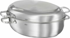 Rösle Keuken Elegance Non Stick Braadpan Ovaal - RVS - 41x28.5x18 cm - Zilver