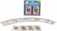 Witte 2-play Speelkaarten Vegas Style 9,5 X 6 Cm Karton 2 Sets