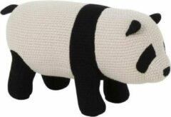 J-line Panda Mini Katoen Zwart/Wit Small - Decoratie kinderkamer - 52x19x24cm