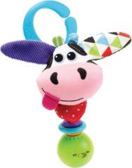 Yookidoo rammelaar Shake Me Rattle Cow 16 cm pluche