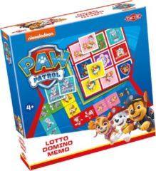 Tactic PAW Patrol 3-in-1 : Memo, Lotto, Domino Kaarten bij elkaar zoeken