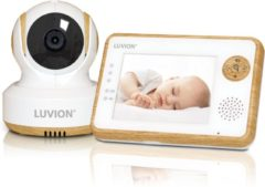 Beige Luvion Essential Limited Wood babyfoon met camera en 3.5' kleurenscherm