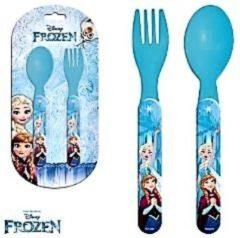 Blauwe Disney Frozen bestek set 2 delig
