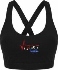 FitProWear Dames Sporttop Taurito - Zwart - Maat XS - Sport Beha - Sport BH - Fitness kleding - Sporthemd - Sportshirt - Fitness top - Fitness BH - Fitness Beha - Taurito - Crop Top - Naadloze sporttop